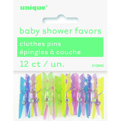 Baby Clothes Mini Pins 12PK