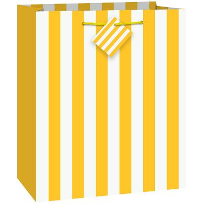 Stripes Yellow Gift Bag