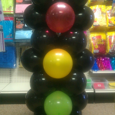 Balloon Column Traffic Light