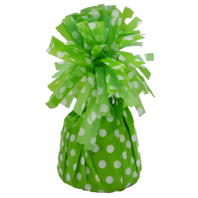 Polka Dots Balloon Weight Lime Green