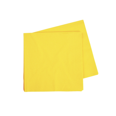 Five Star Cocktail Napkin 25cm Canary Yellow 40PK