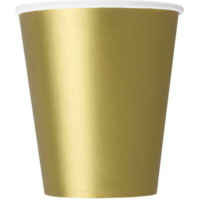 Paper Cups - Gold 8PK