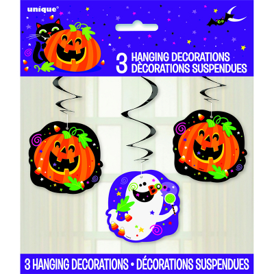 Pumpkin Pals Hanging Swirl 3PK