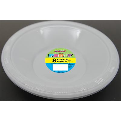 Plastic Bowls 18cm White 8PK