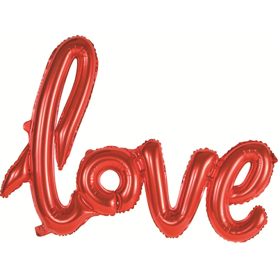 "Large Foil Balloon ""LOVE"" Red 59cm"