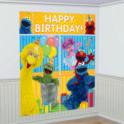 Sesame Street Scene Setter Wall Decorations Kit 5PK