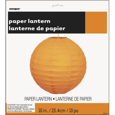 Round Lantern 25cm Orange