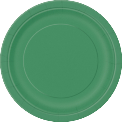 Paper Around Plates 23cm - Dark Green 8PK
