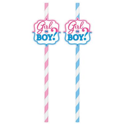 Girl or Boy? Straws - Paper