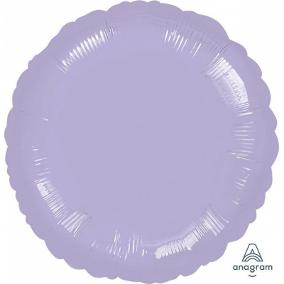 45cm Round Foil Balloon Pastel Lilac Inflated with Helium