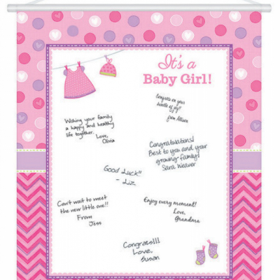 Shower with Love Girl Sign In Sheet