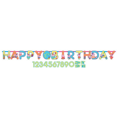 Peppa Pig Jumbo Add-An-Age Letter Banner