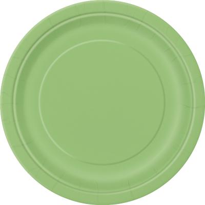 Paper Around Plates 23cm - Lime Green 8PK