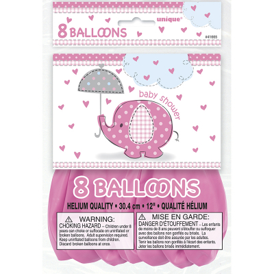 Umbrellaphants Pink Balloon 8PK