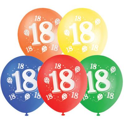 30cm Helium Quality Latex Balloon 18TH 10PK