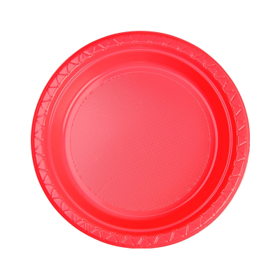 Five Star Round Snack Plate 17cm Coral 20PK