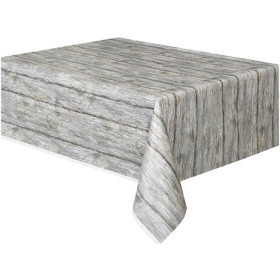 Rustic Wood Print Pattern Tablecover