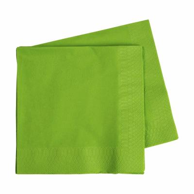 Five Star Lunch Napkin 33cm Lime Green 40PK