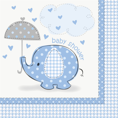 Umbrellaphants Blue Lunch Napkins 16PK