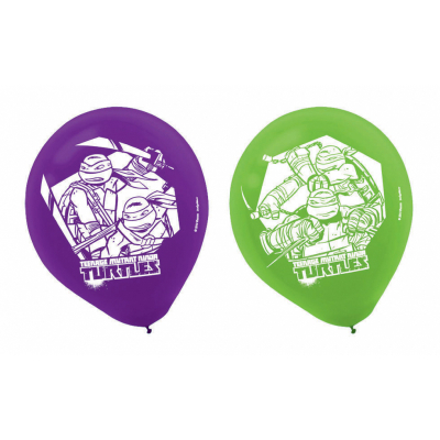 Teenage Mutant Ninja Turtles 30cm Latex Balloons 6PK