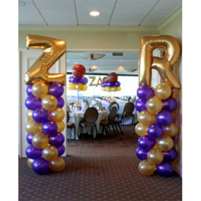 Balloon Column with Large Letter Foil Balloon