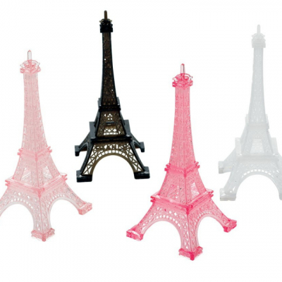 Day In Paris Eiffel Towers Decorations Plastic 4PK