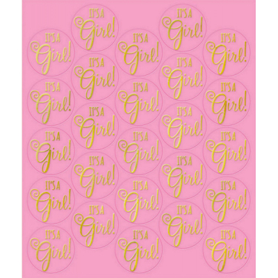 Sticker Seals - Pink 25PK