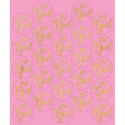 Sticker Seals - Pink 25PK