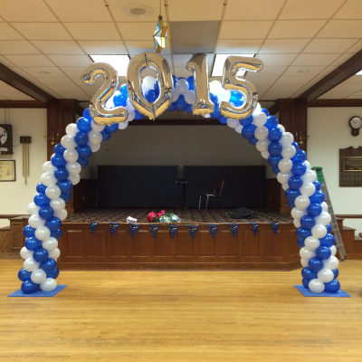 Continuous Curve Balloon Arch ( with Number or Letter Foil Balloon )