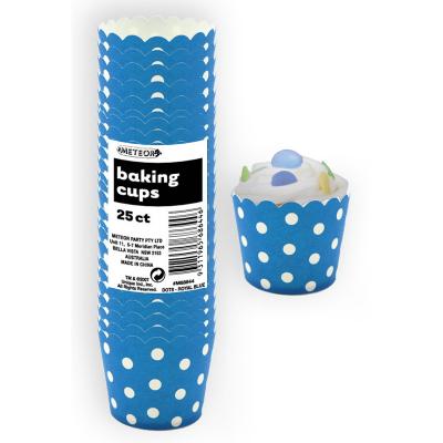 Polka Dots Baking Cups Royal Blue 25PK