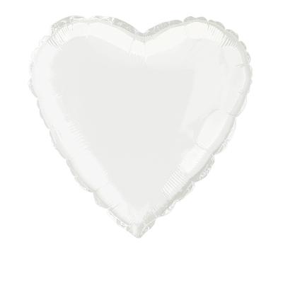 Heart 45cm Foil Balloon White