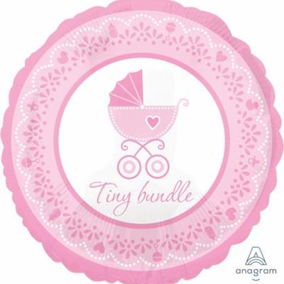 45cm Standard Foil Balloon Celebrate Baby Girl Tiny Bundle