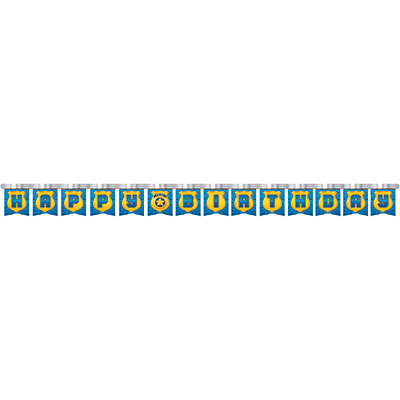 Police Party Jointed Banner Happy Birthday