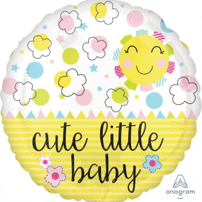 45cm Standard Foil Balloon Cute Little Baby Sunshine