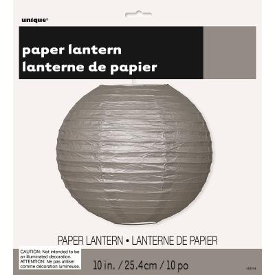 Round Lantern 25cm Silver