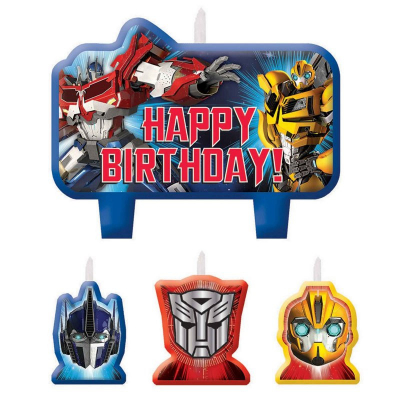 Transformers Core Birthday Candle Set 4PK