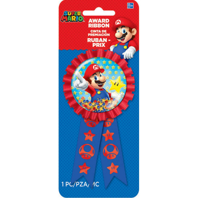 Super Mario Brothers Confetti Award Ribbon