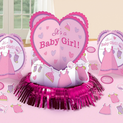 Shower with Love Girl Table Decorations Kit 23PK