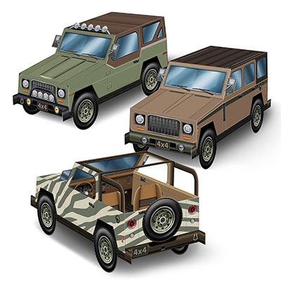 SUV Jeep Centrepieces 16PK