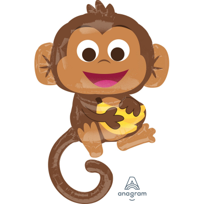 SuperShape Happy Monkey Foil Balloon