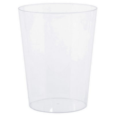 Cylinder Container Plastic Clear Small