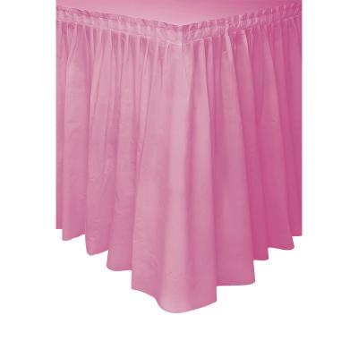 Plastic Tableskirt Hot Pink