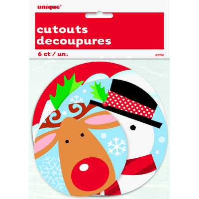 Mini Cutouts Chrismas 6PK