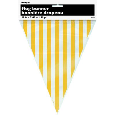 Stripes Flag Banner Yellow 12PK