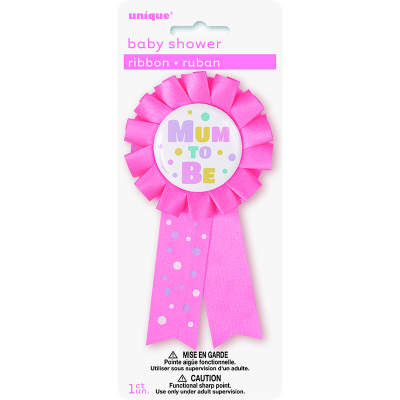 Mum To Be Award Ribbon - Pink