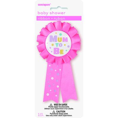 Mum To Be Award Ribbon - Pink
