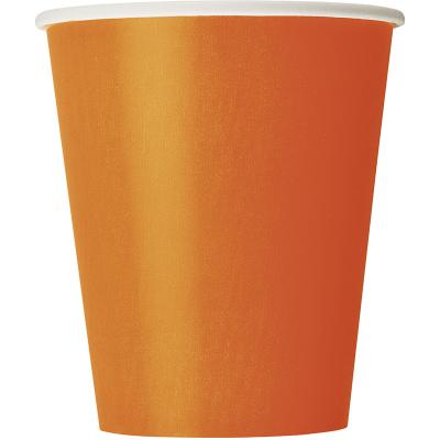Paper Cups - Orange 8PK