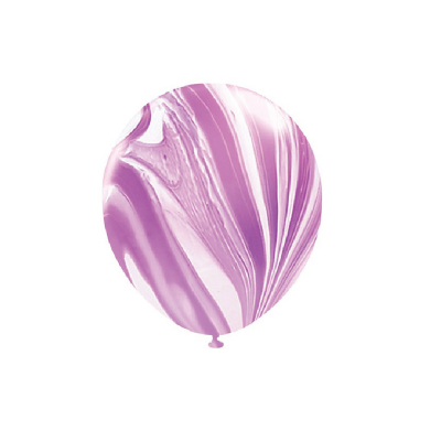 30cm Helium Quality Latex Balloons Marble Purple 10PK