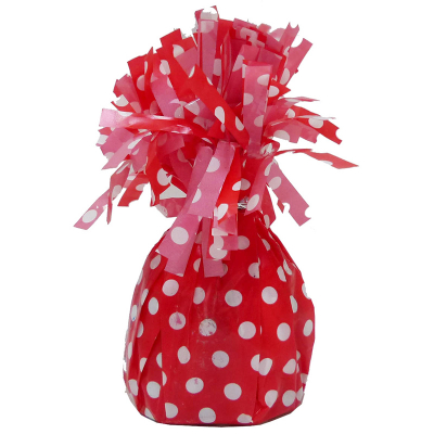 Polka Dots Balloon Weight Ruby Red