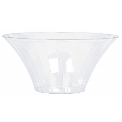 Flared Bowl Plastic Clear Medium 23cm